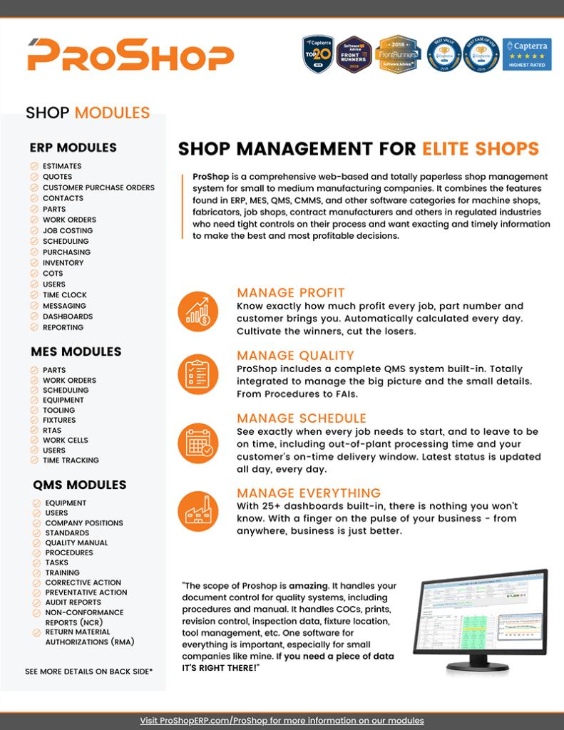 ProShop 2 page flyer